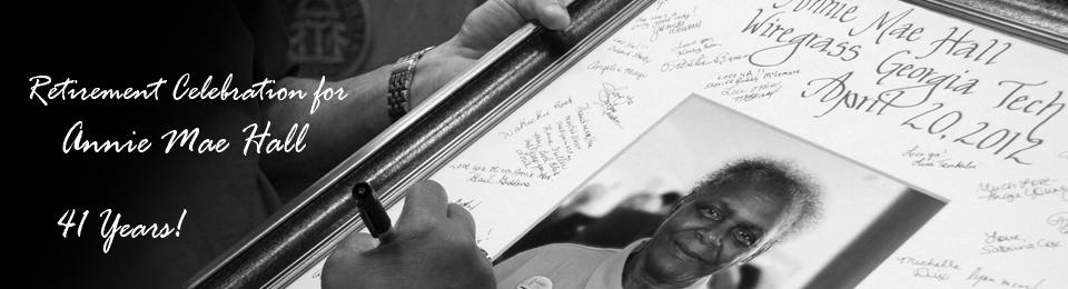Annie Mae Hall's Retirement Autograph frame